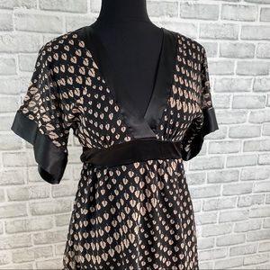 Charlotte Russe black brown patterned empire dress